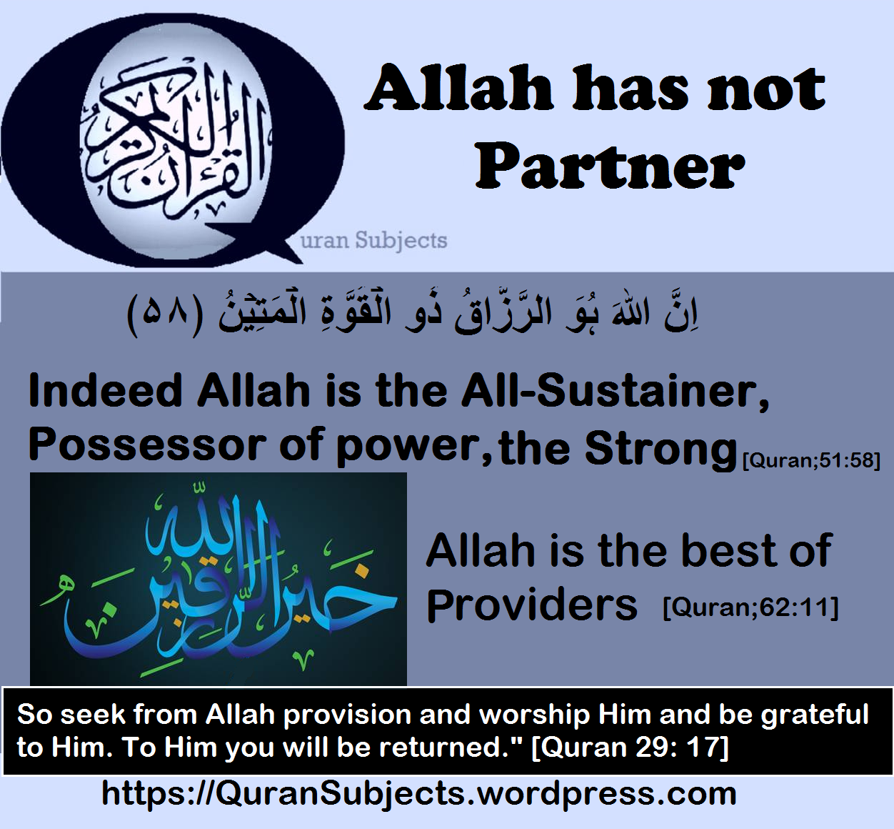 The Sustainer [Quran Subjects ]